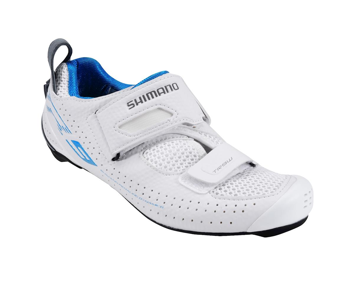 Shimano Women's SH-TR9 Triathlon Shoes (White) (44)