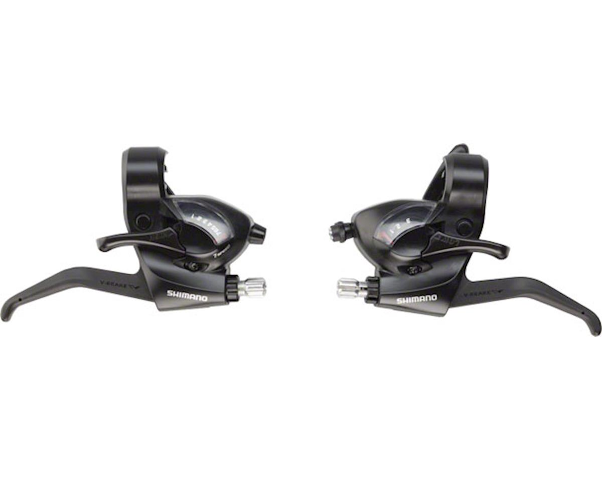 Shimano ST-EF41 3x7-Speed Brake/Shift Lever Set (Black)