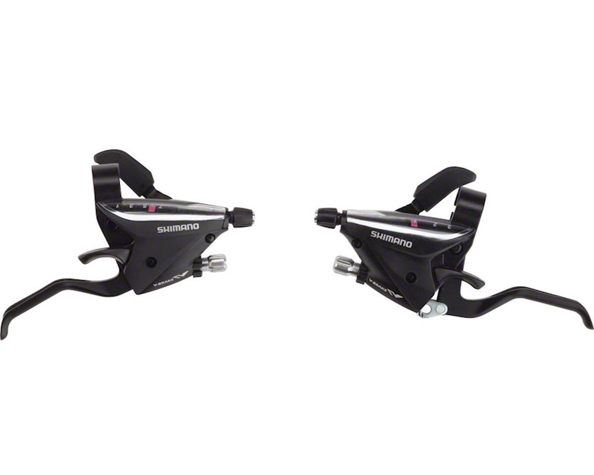 Shimano EF65-2A Brake/Shift Lever Set (Black) (3x7-Speed)