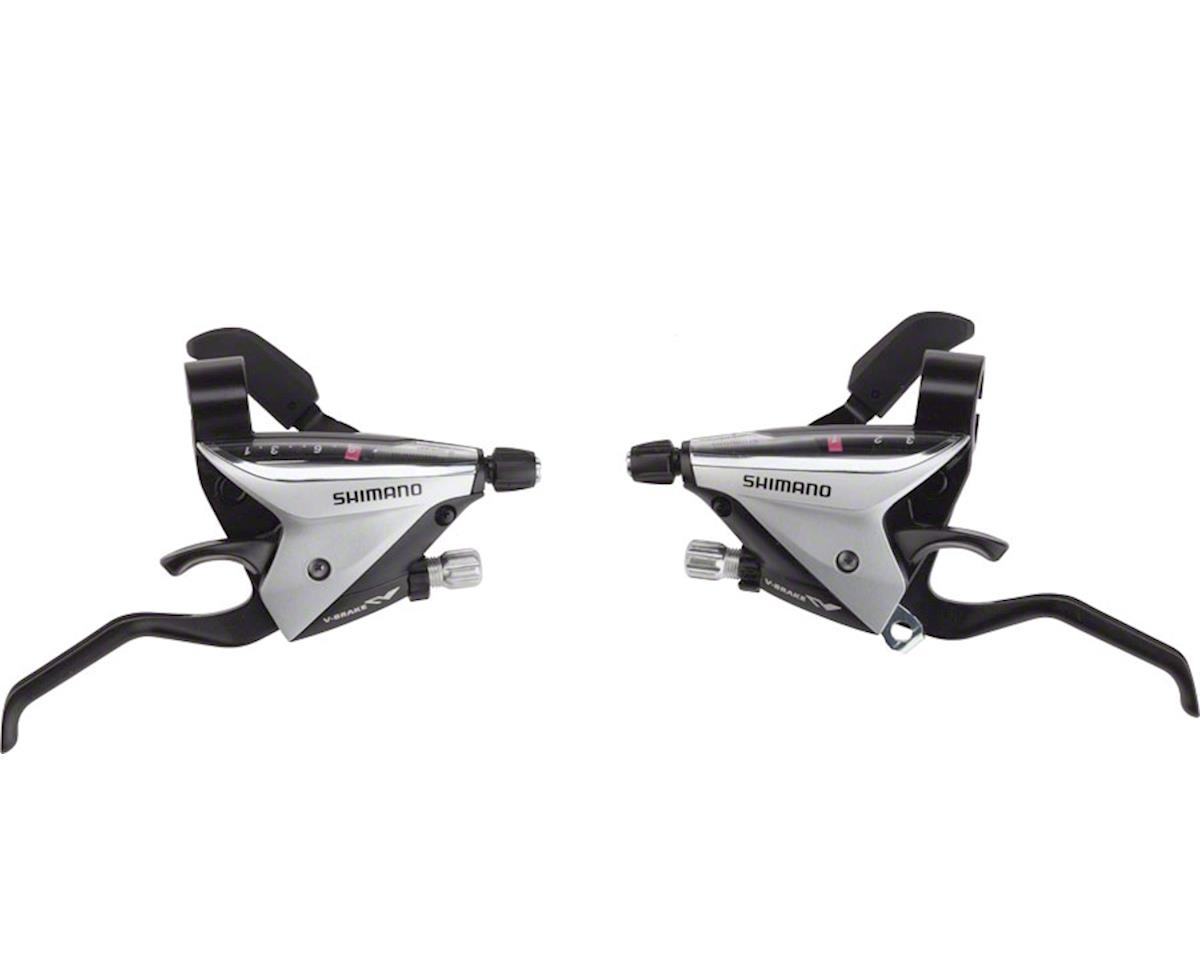 Shimano ST-EF65-2A Brake/Shift Lever Set (Silver) (3x8-Speed)