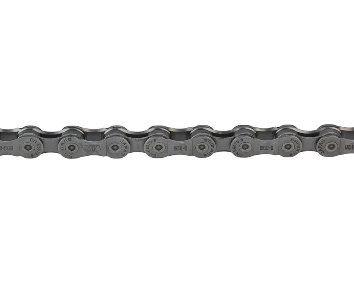 Shimano STEPS CN-E6070-9 E-Bike Chain - 9-Speed, Gray, Gray