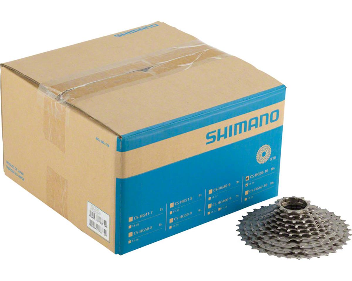 Shimano Deore M6000 CS-HG50 Cassette - 10 Speed, 11-36t, Silver, Nickel Plated,