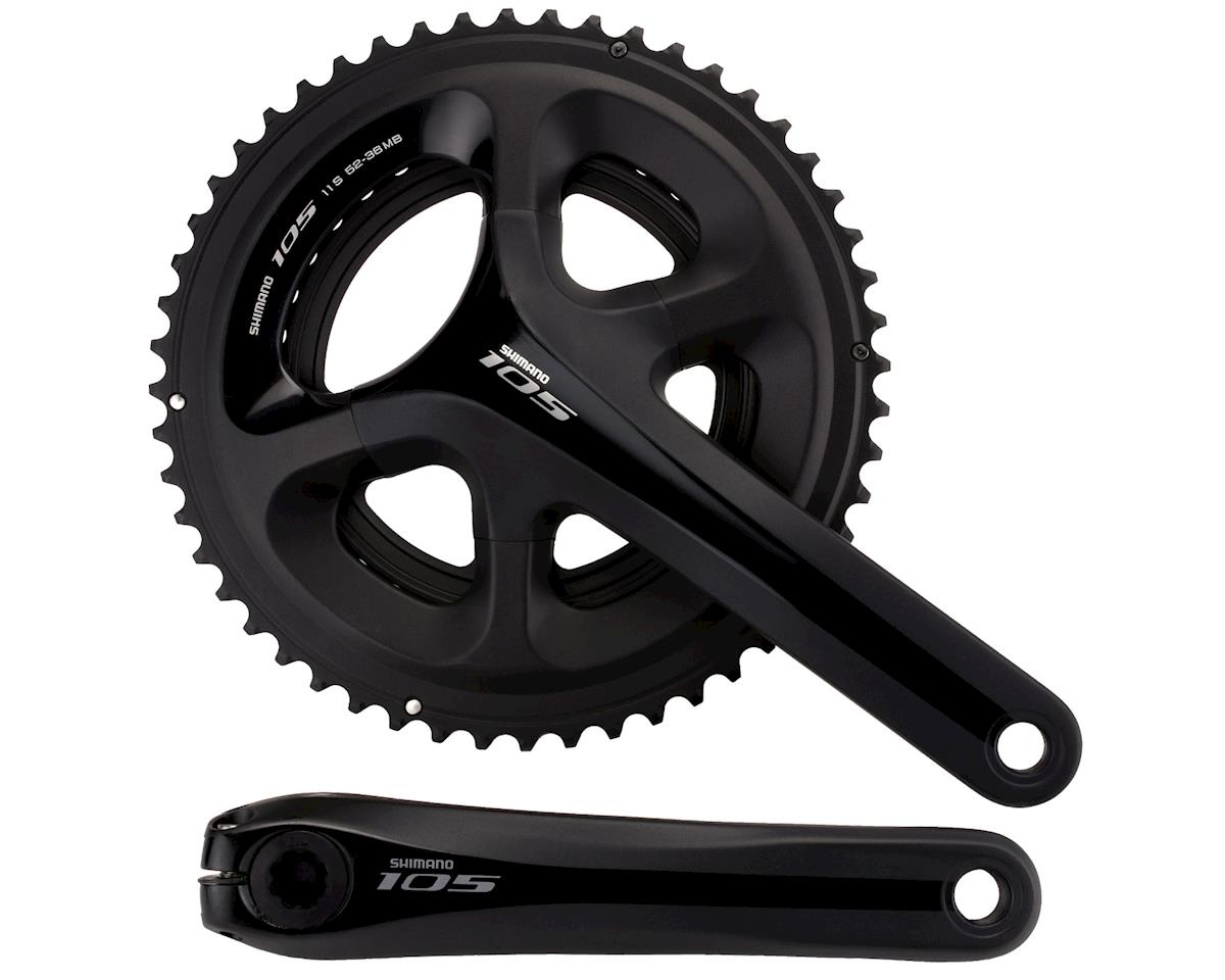 Shimano 105 5800 11-Speed Crankset (Black) (36/52T) (165mm)