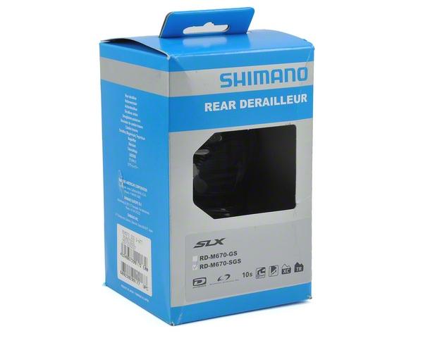 Shimano RD-M670-SGS SLX Shadow Rear Derailleur (10-Speed) (Black/Silver)