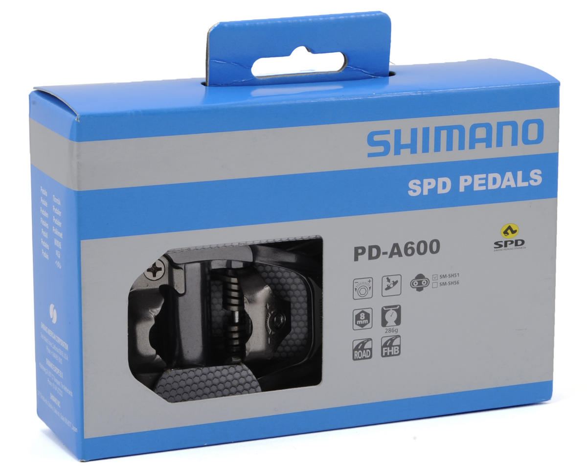 Shimano PD-A600 SPD Road Pedals w/SM-SH51 Cleats