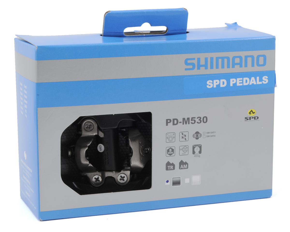 Shimano PD-M530 Trail SPD Mountain Pedals w/SM-SH51 Cleats (Black)