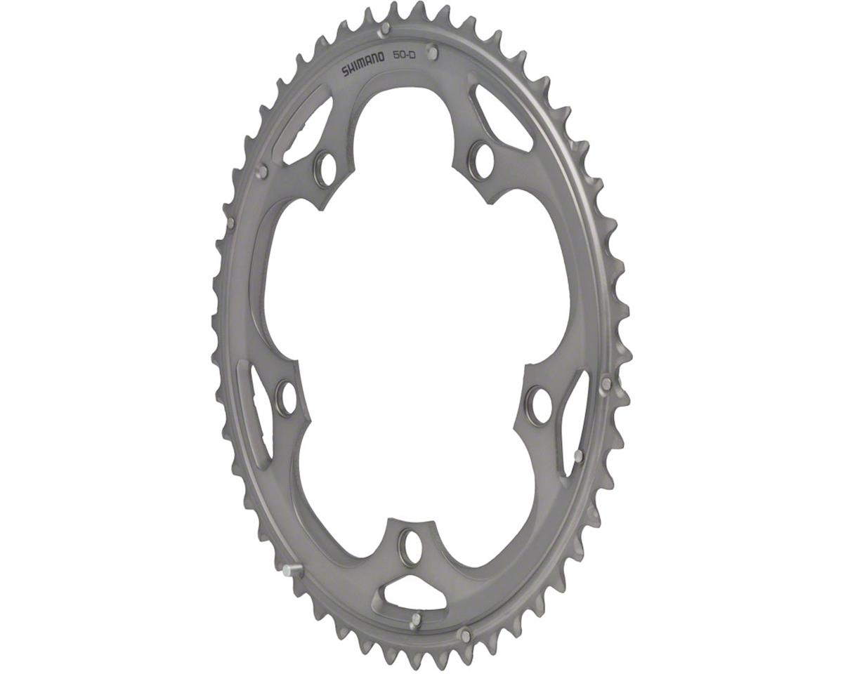 Shimano 105 5703-S Triple Outer Chainring (Silver) (50T) (130 BCD)