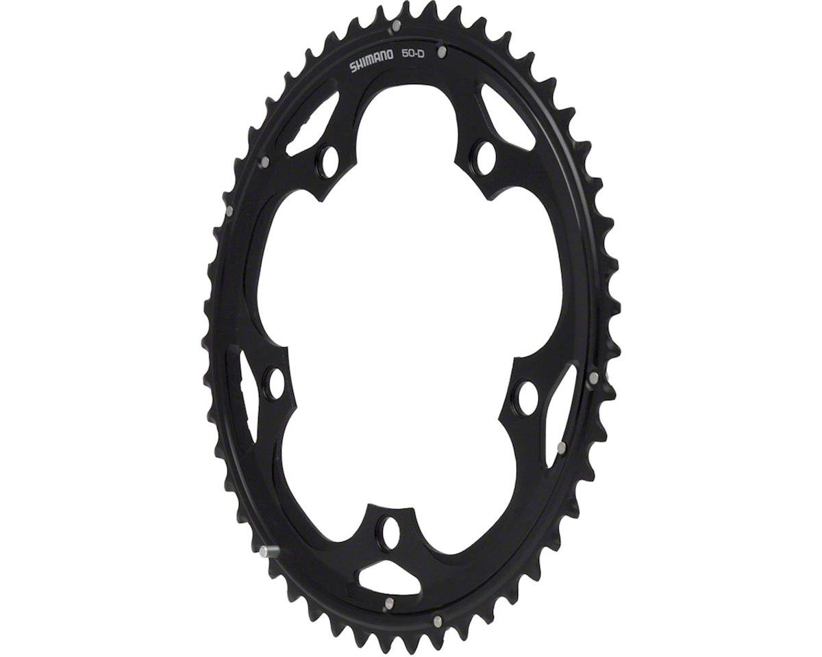 Shimano 105 5703-L Triple Outer Chainring (Black) (50T) (130 BCD)