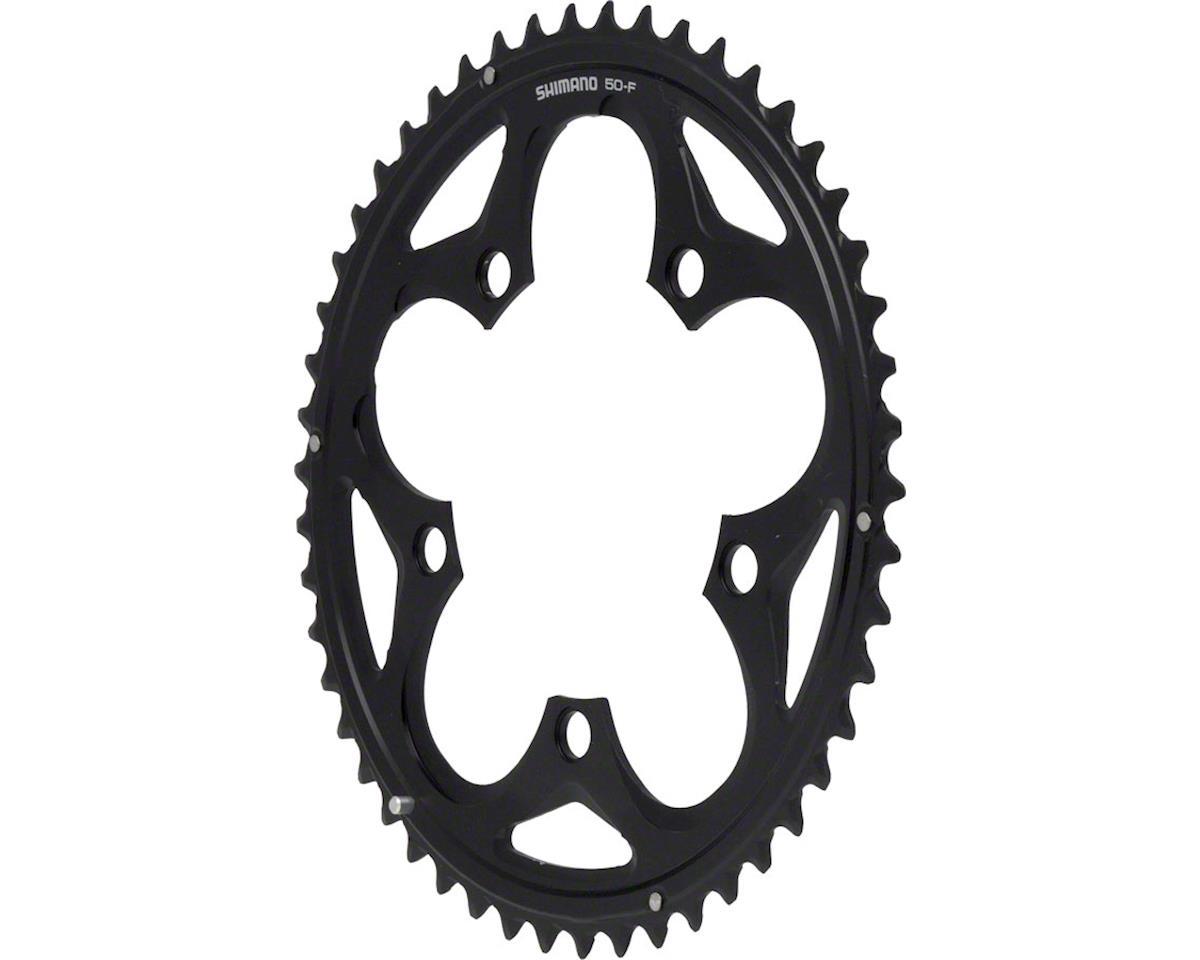Shimano 105 5750-L Chainring (Black) (50T) (110 BCD)