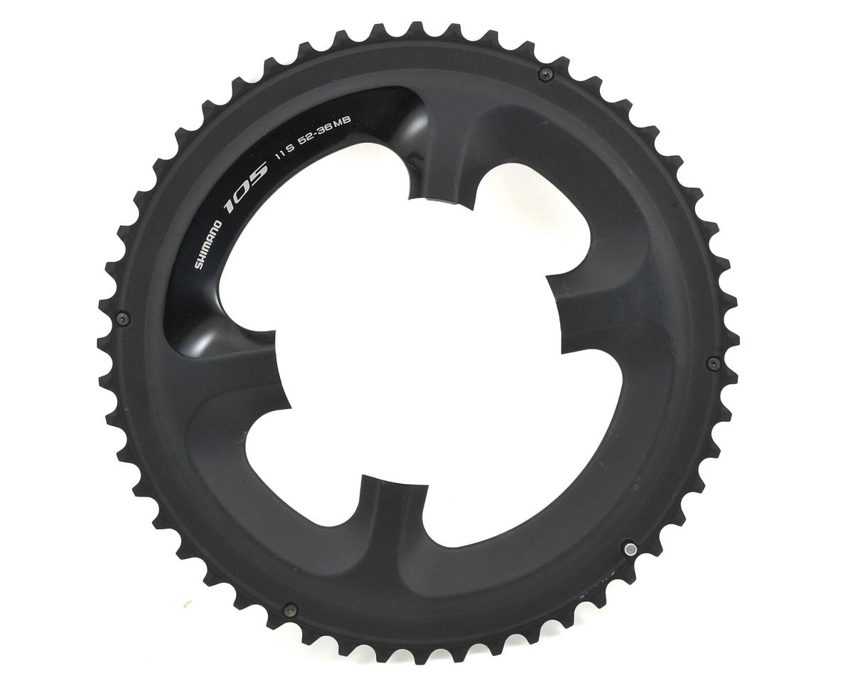 Shimano 105 FC-5800L Outer 11-Speed MidCompact Chainring (52T) (110mm) (Black)