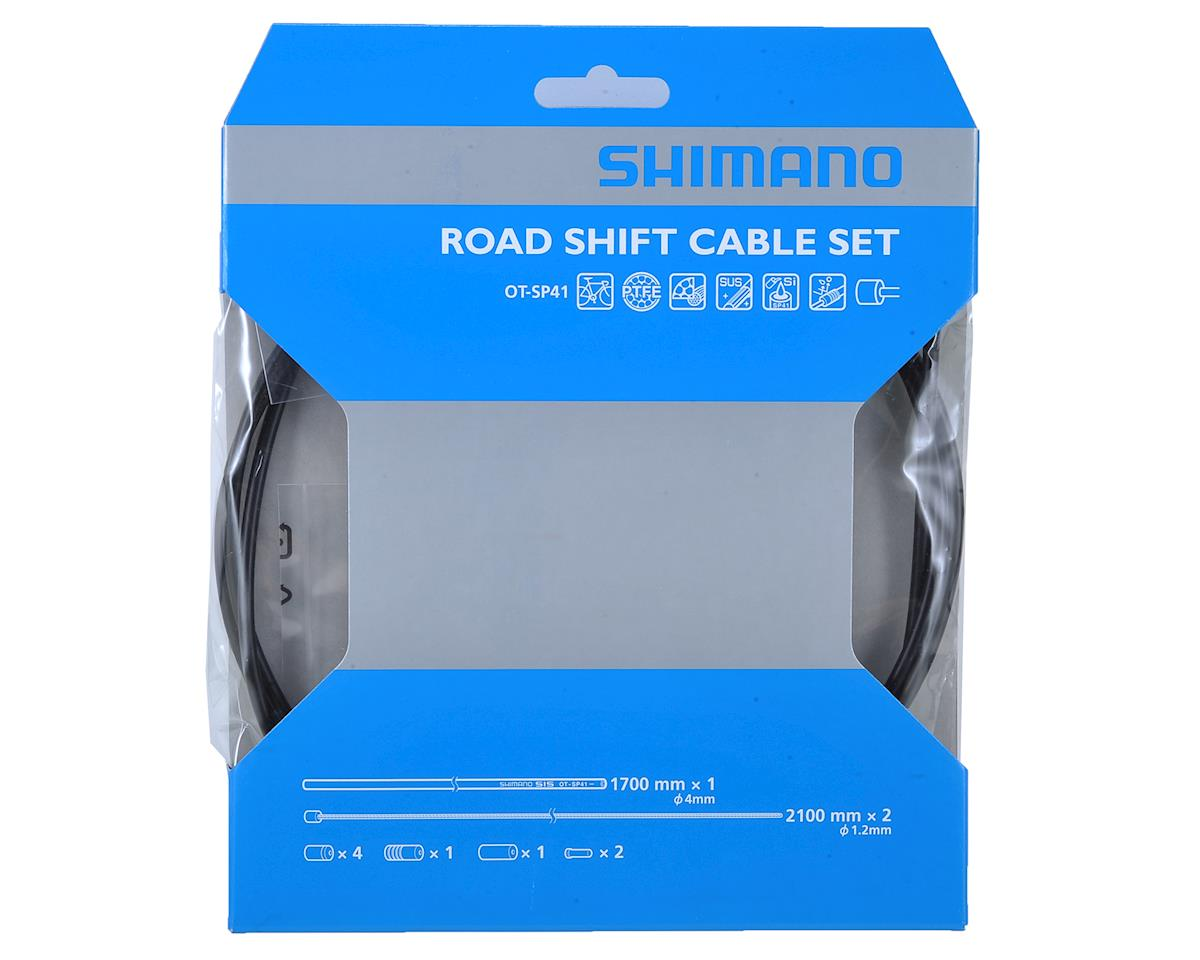 Shimano Road PTFE Derailleur Cable And Housing Set (Black)