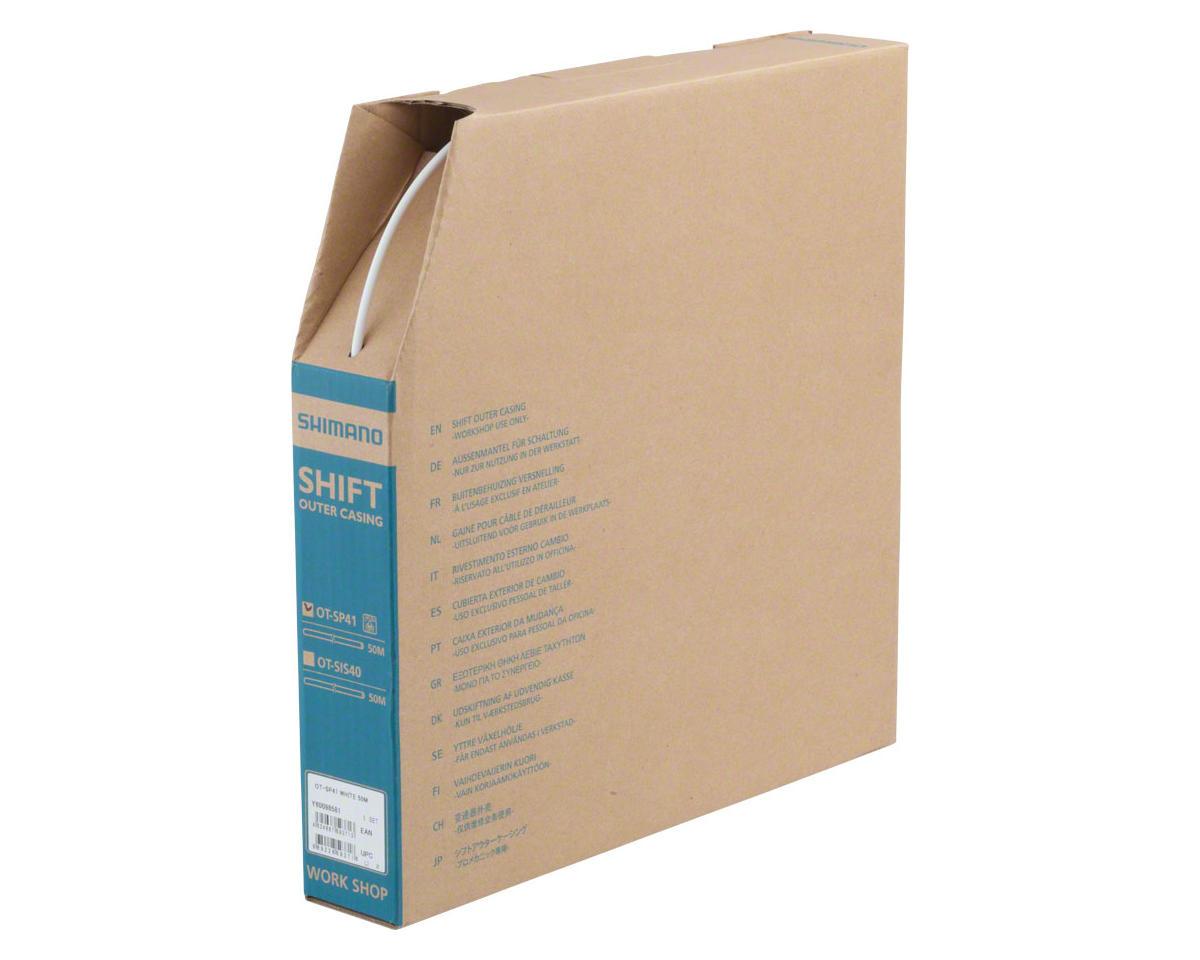 Shimano SP41 Derailleur Housing Box 4mm x 50m, White