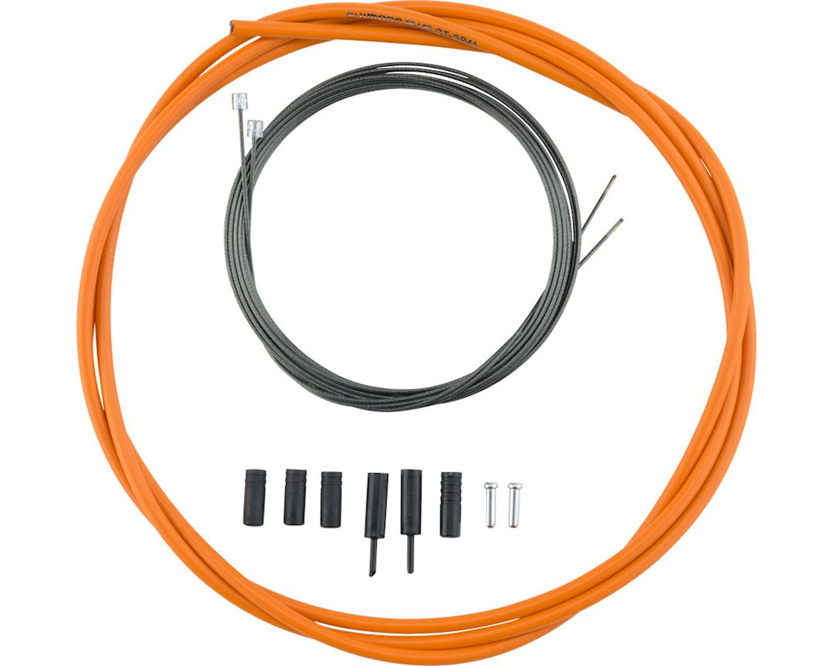 Shimano Road Optislick Derailleur Cable and Housing Set (Orange)