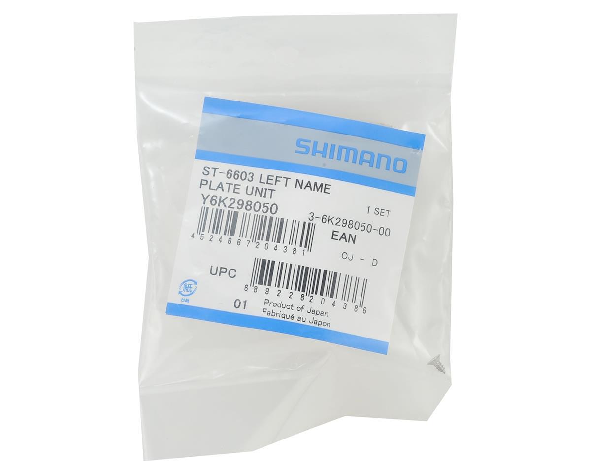 Shimano Ultegra ST-6603 Left Side STI Lever Name Plate & Fixing Screw