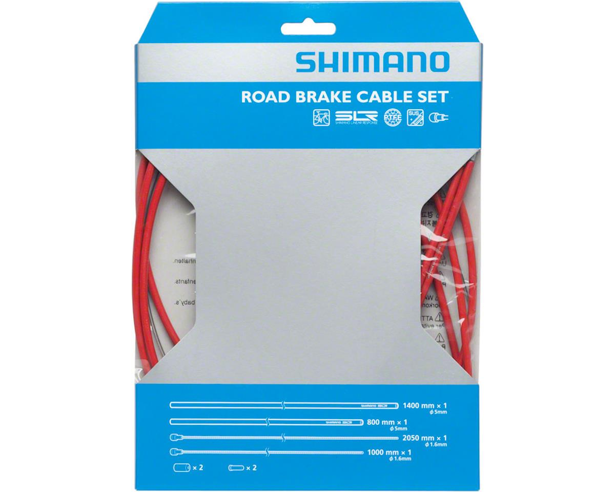 Shimano Road PTFE Brake Cable and Housing Set (Red)