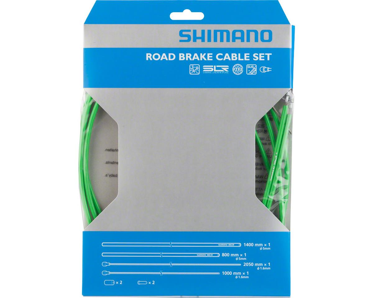 Shimano Road PTFE Brake Cable and Housing Set (Green)