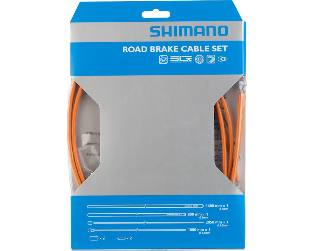 Shimano Road PTFE Brake Cable and Housing Set (Orange)