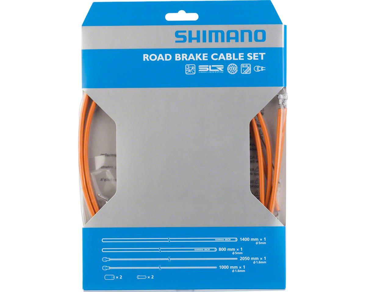Shimano Road PTFE Brake Cable and Housing Set (Orange)