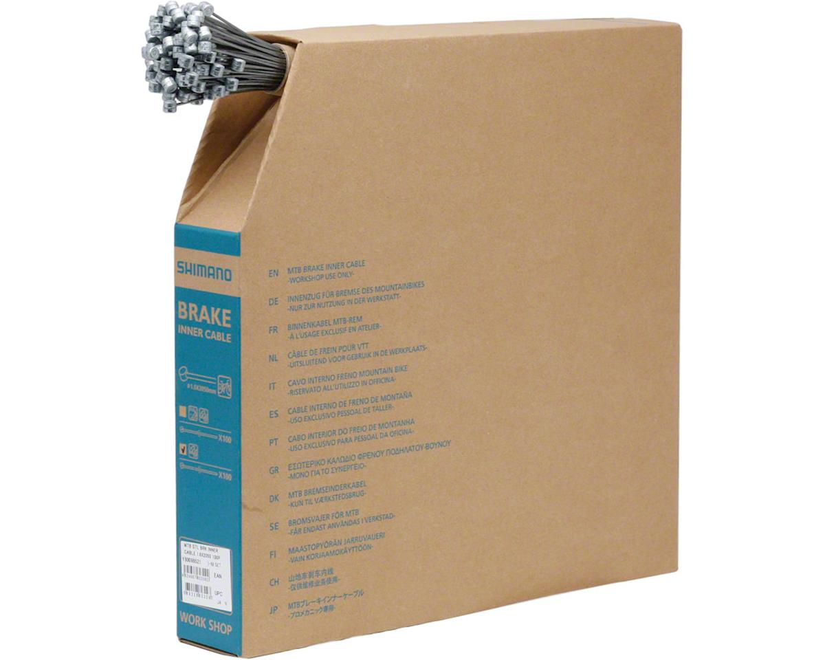 Shimano MTB Brake Cable 1.6 x 2050mm, Filebox of 100