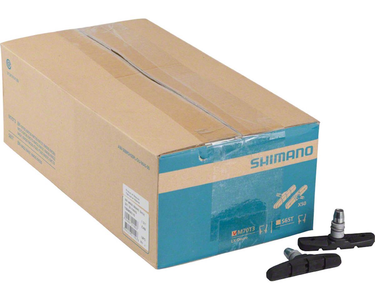 Shimano M70T3 V-Brake Shoe Set, 50 Pairs