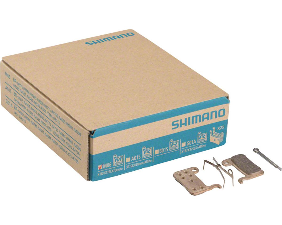 Shimano M06 Metal Disc Brake Pads and Spring, 25 Pairs for XTR BR-M975, Saint BR