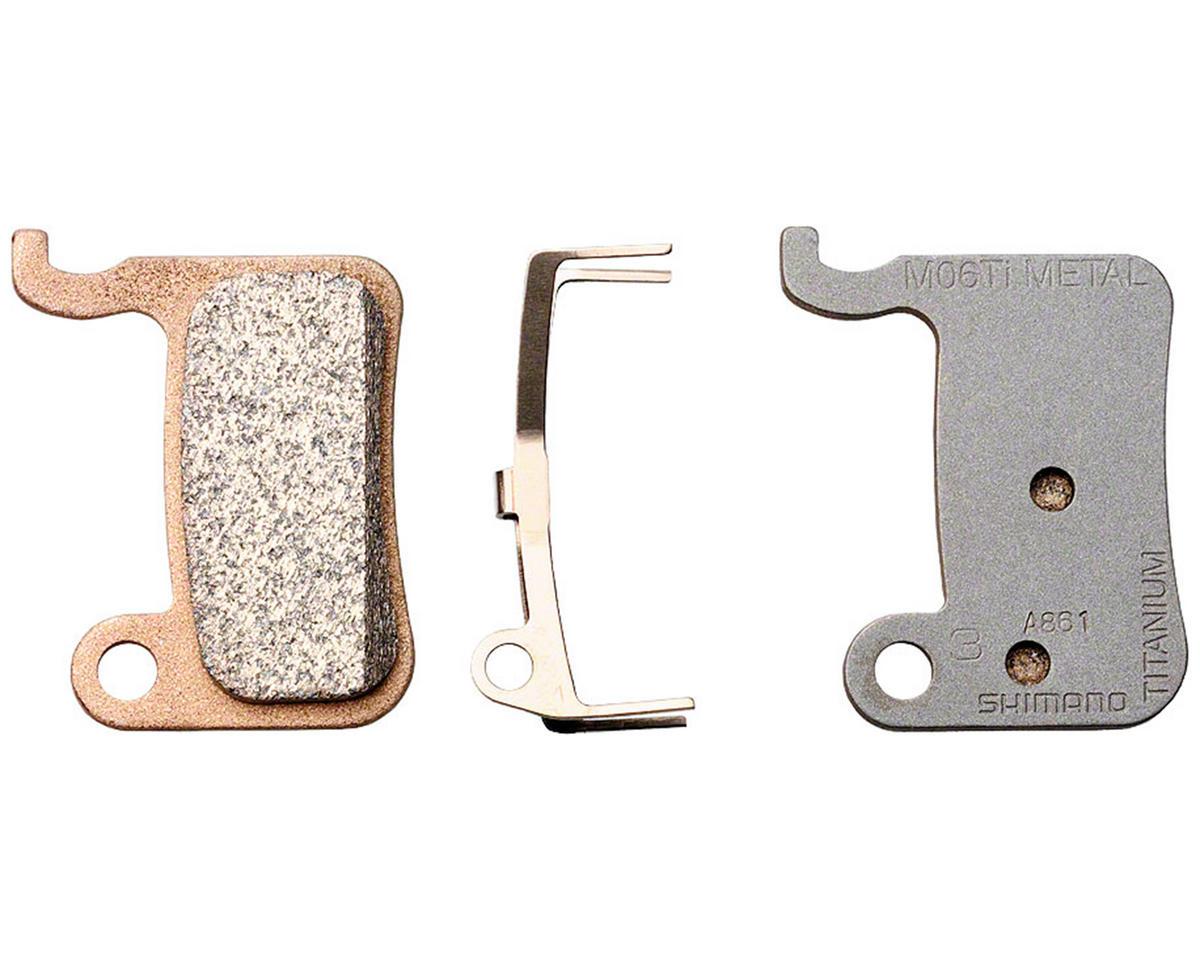 Shimano BR-M975 M06Ti Metal/Titanium Brake Pad Set w/Split Pin & Spring