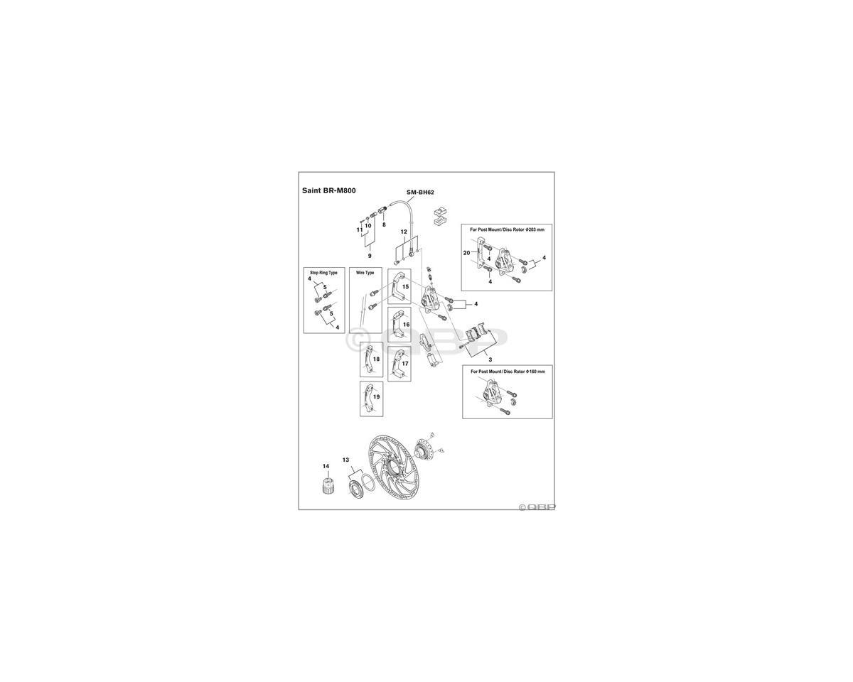 Shimano BH96, BH63, BH62, BH61 Brake Hose Banjo Bolt & O-Rings