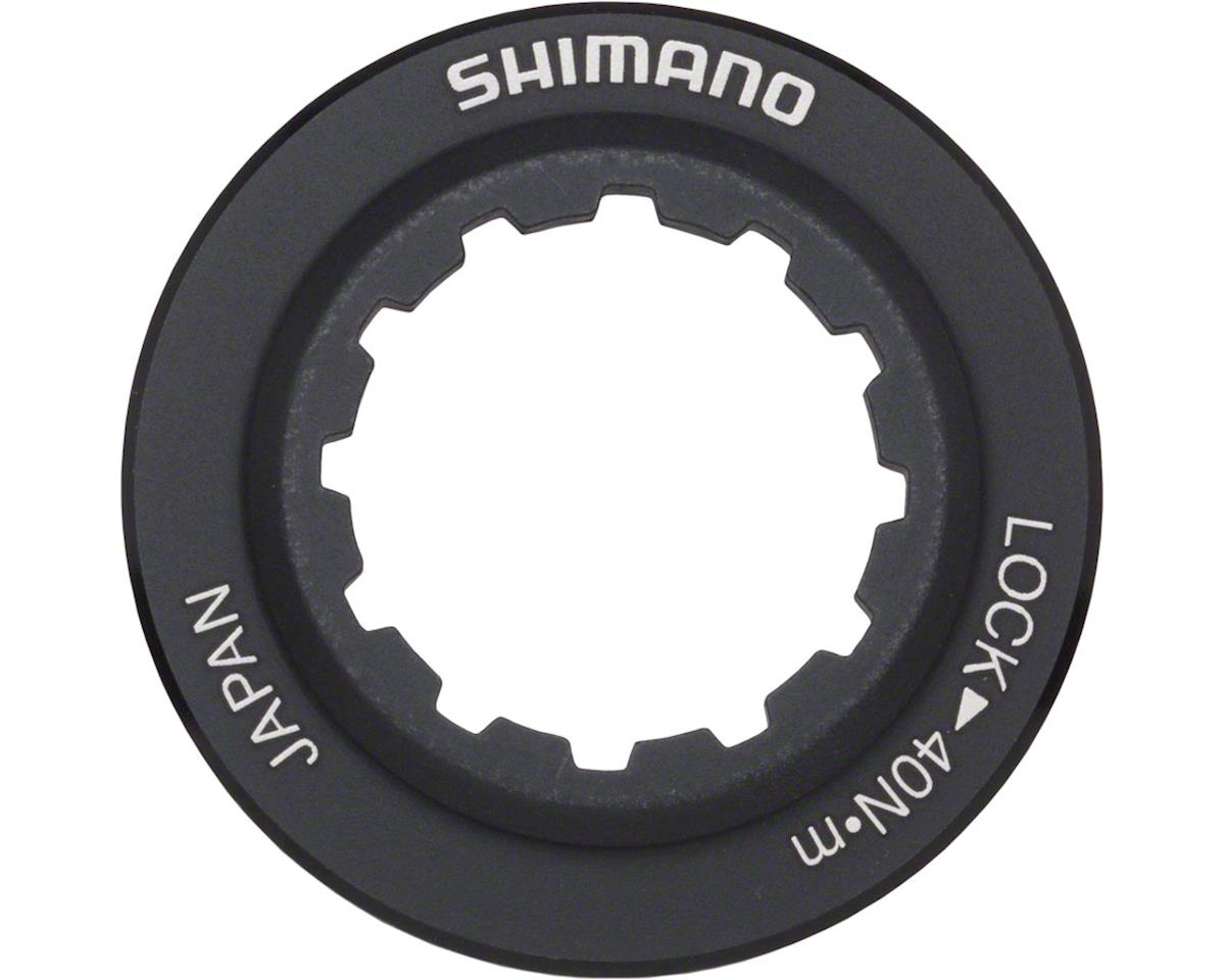 Shimano RT98 Centerlock Disc Rotor Lockring (Black/Alloy) (For 9/10mm Axle Hubs)