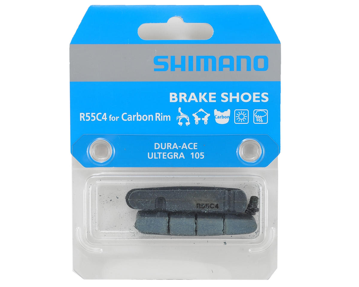 Shimano R55C4 Dura-Ace/Ultegra Brake Shoes & Fixing Bolts For Carbon Rims