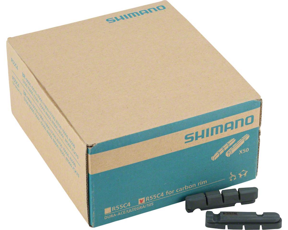Shimano R55C4 Carbon Rim Road Brake Pads, 50 Pairs
