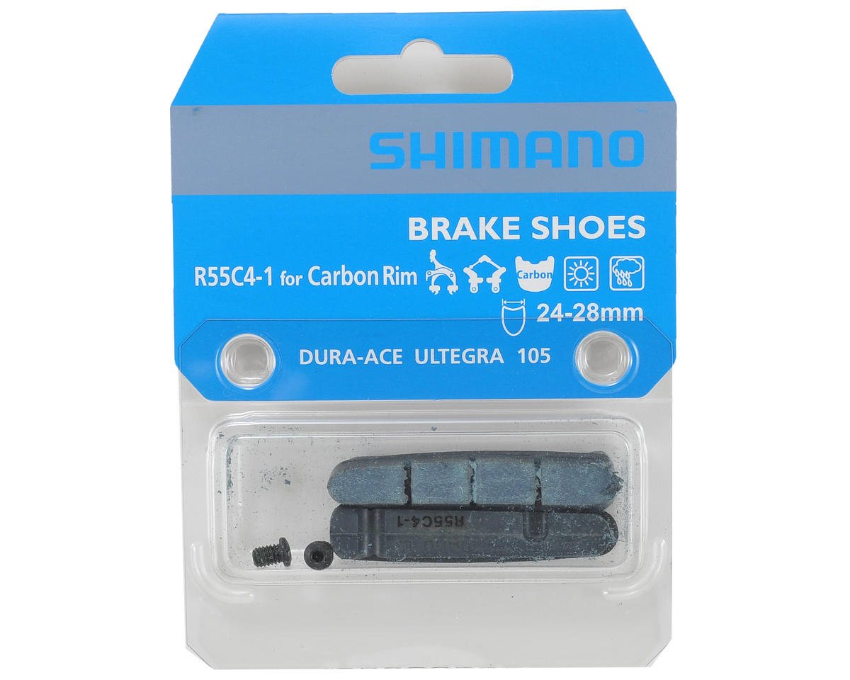 Shimano R55C4-1 Brake Shoes & Fixing Bolts for Wide Carbon Rims (24-28mm)