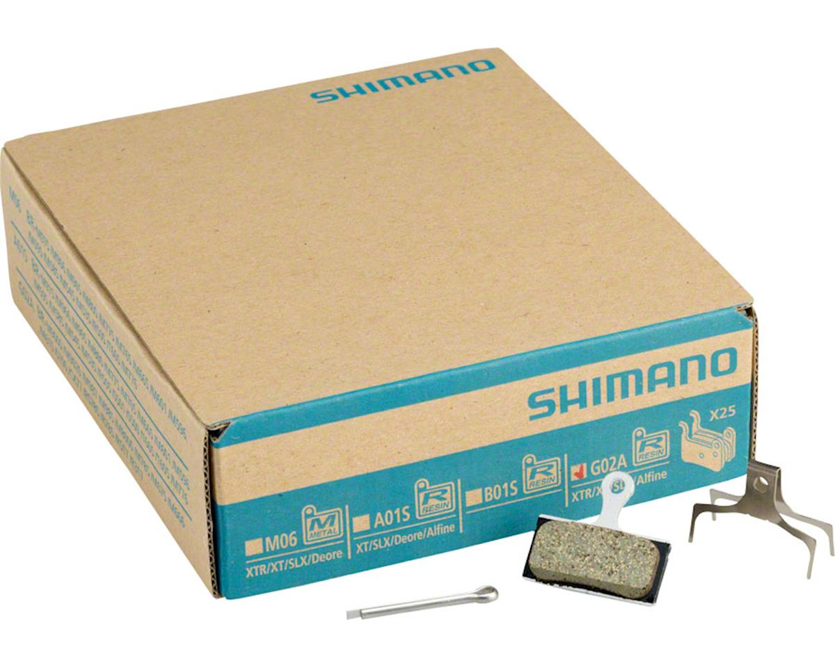 Shimano G02A Resin Disc Brake Pads and Spring, 25 Pairs, XTR BR-M9020, XT BR-M80
