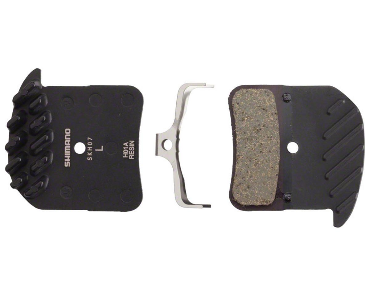 Shimano Saint/Zee Metal Brake Pad & Cooling Fin (H01A - Resin)