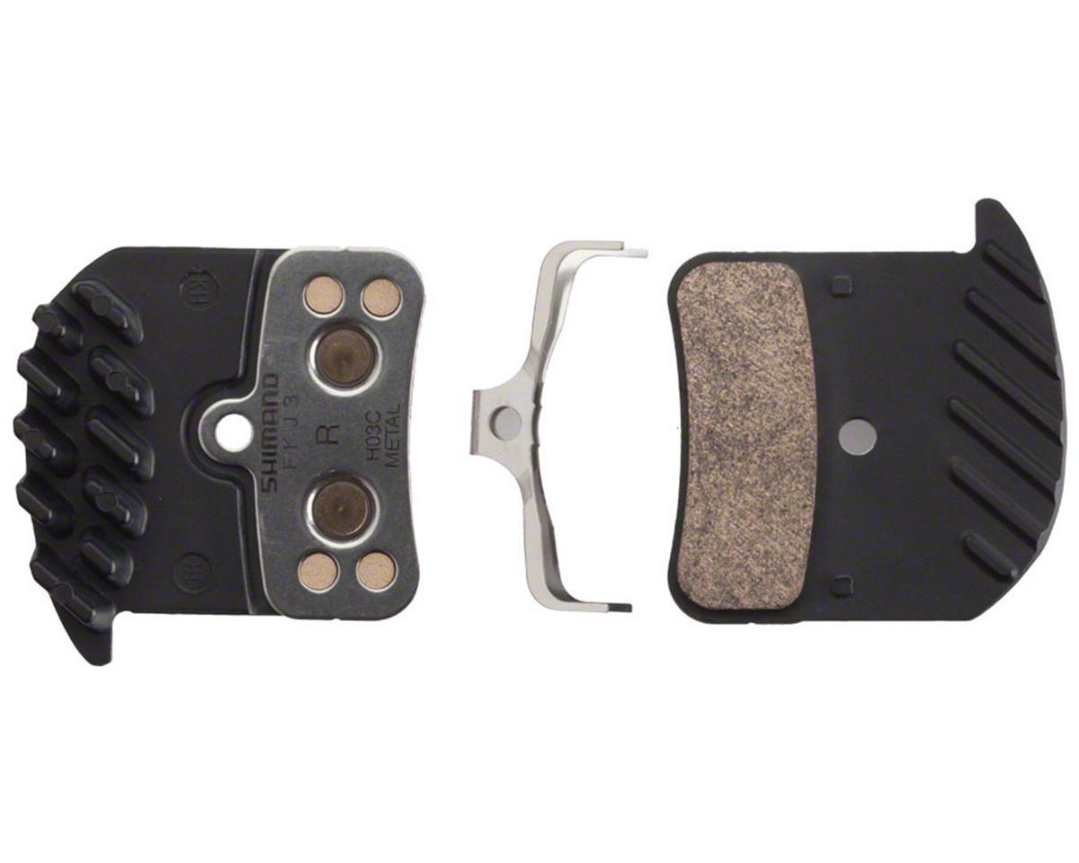 Shimano Saint/Zee Brake Pad & Cooling Fin (H03C - Metal)