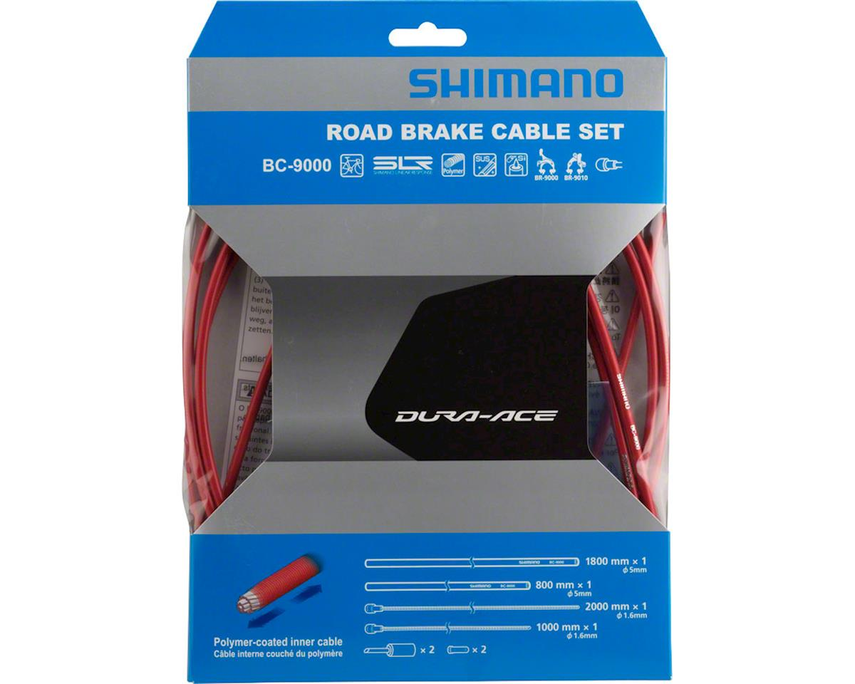 Shimano Dura-Ace BC-9000 Polymer-Coated Brake Cable Set (Red)