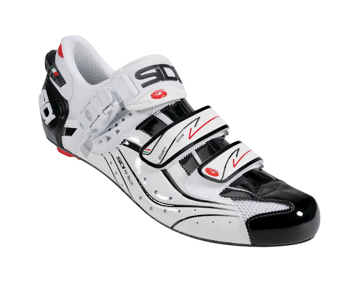 Sidi Genius 6.6 Vent Carbon Road Shoes - Closeout (Black/White)
