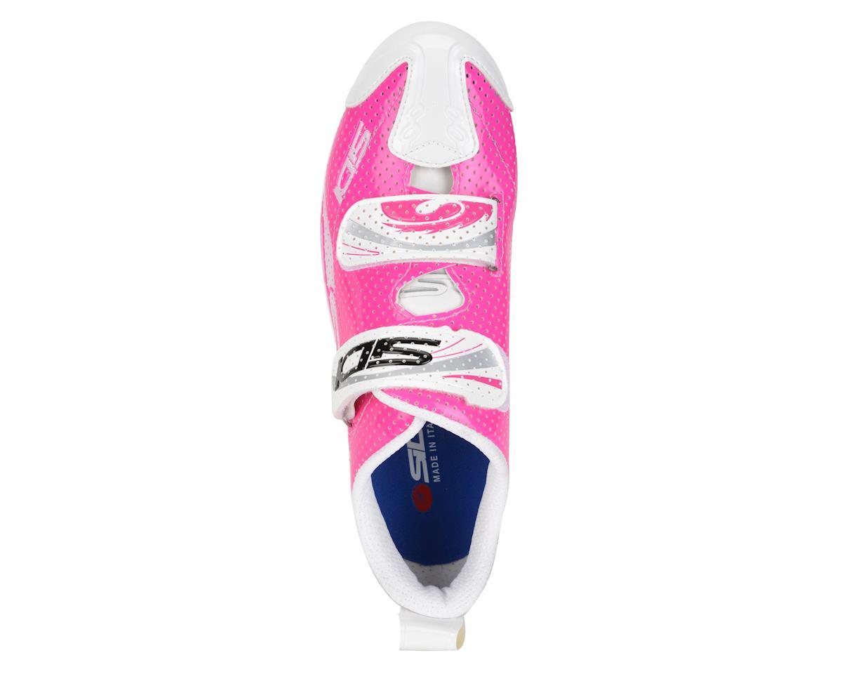 Sidi Women's T4 Air Carbon Triathlon Shoes (White/Pink)