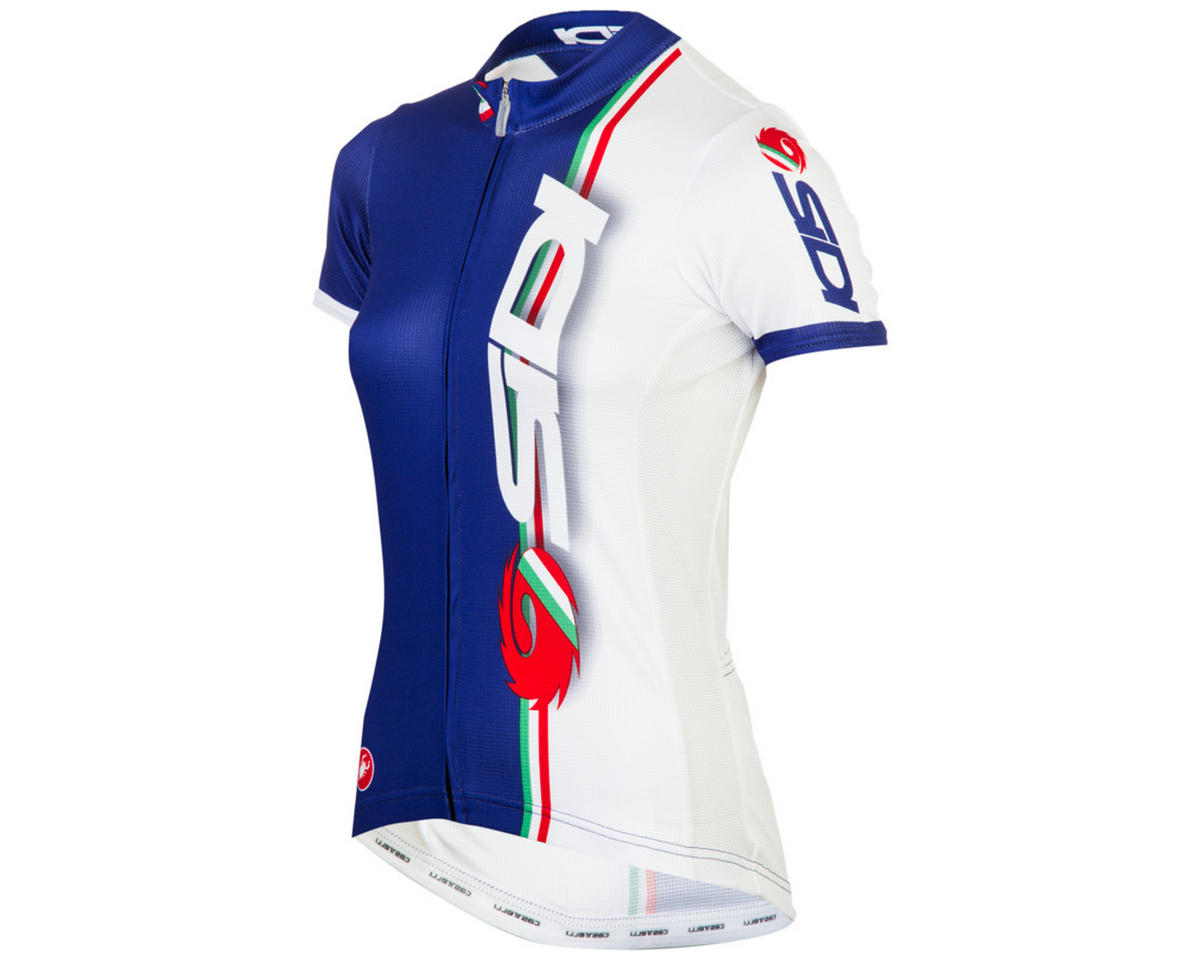 Sidi Dina Womens Cycling Jersey (Blue/White) (L)