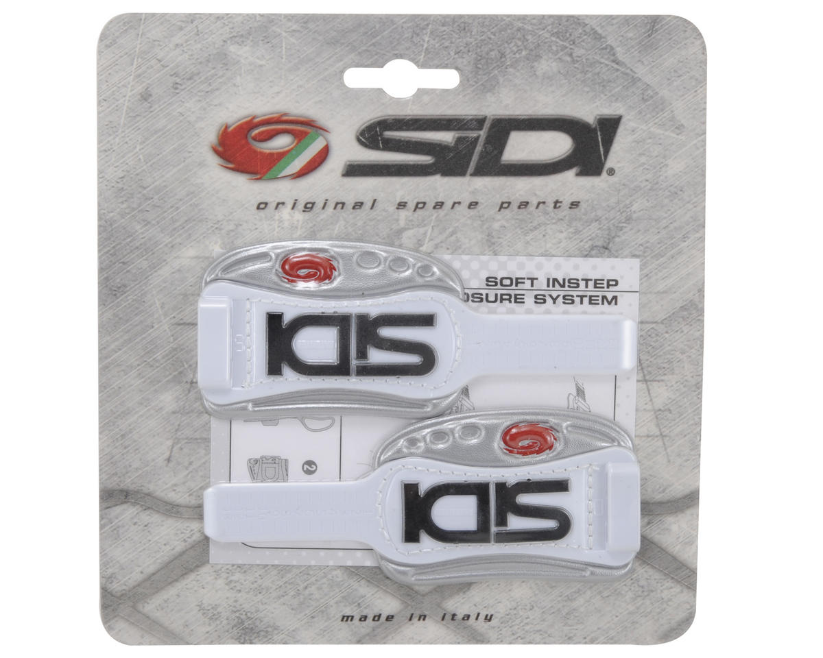 Sidi Bike Shoes Soft Instep Closure System (White/Silver)