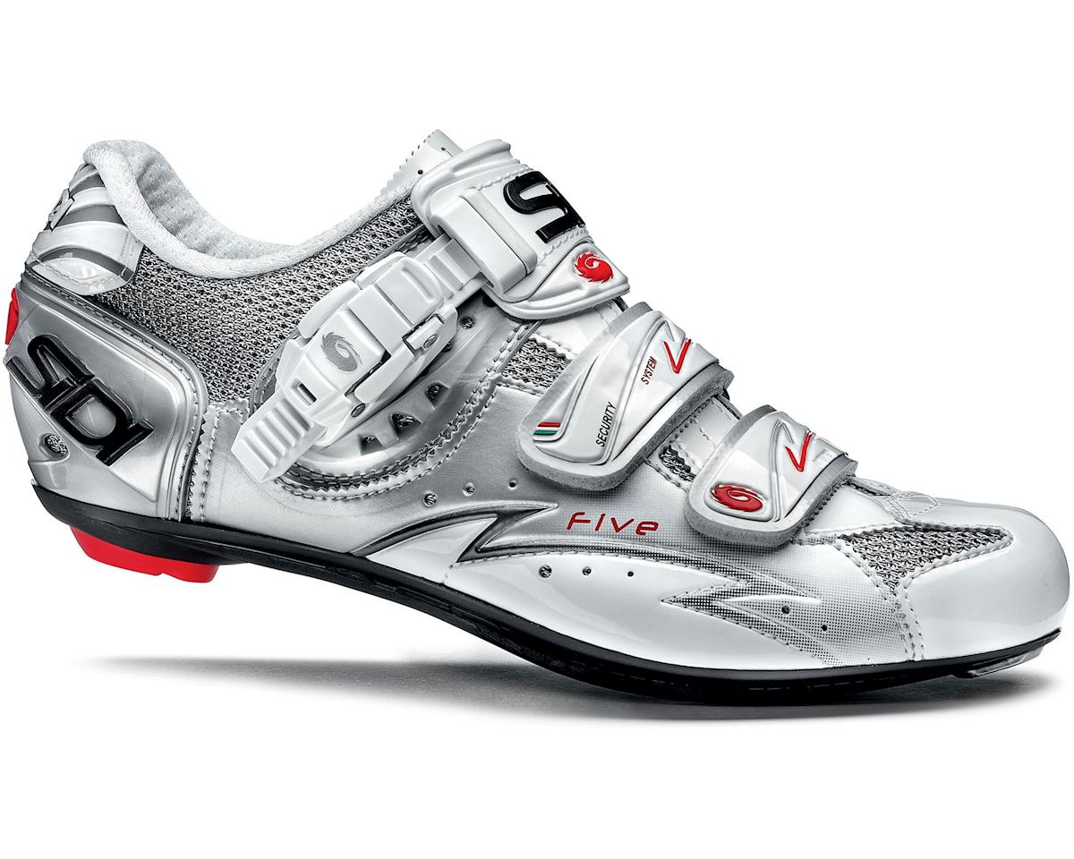 Sidi Five Carbon Vernice Womens Bike Shoes (White/Silver)