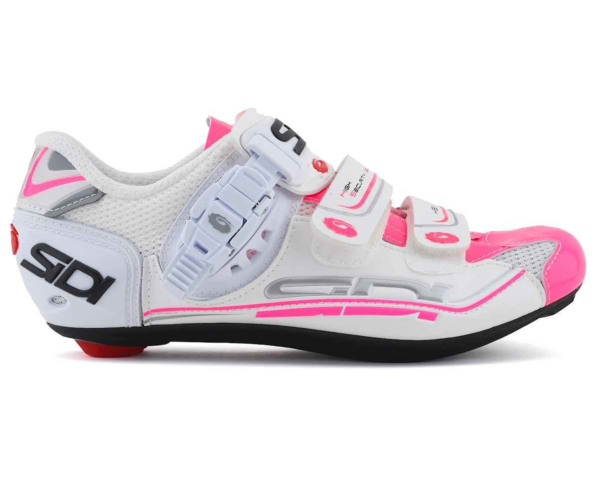 Sidi Genius 7 Womens (White/Pink Fluorescent) (Limited Availability) (42.5)