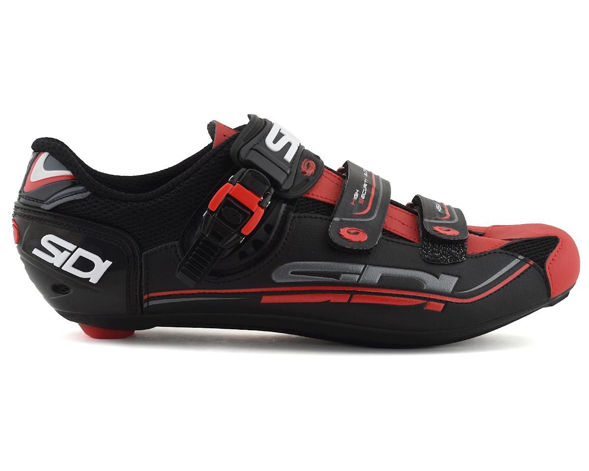 Sidi Genius 7 Carbon Road Shoes (Black/Red) (42)