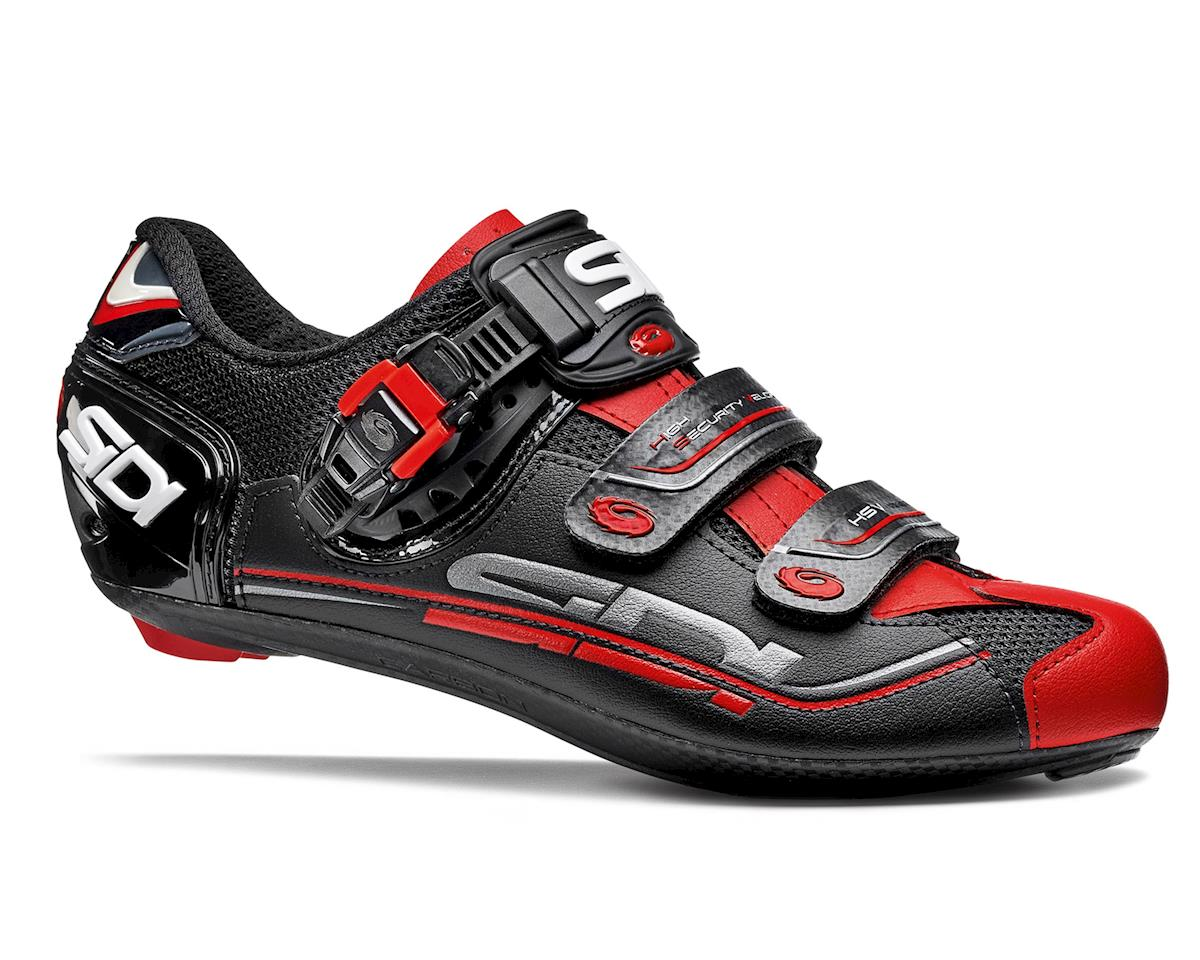 Sidi Genius 7 Carbon Road Shoes (Black/Red) (45)