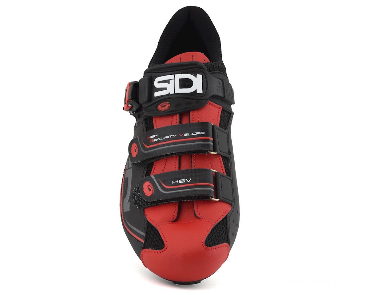 Sidi Genius 7 Carbon Road Shoes (Black/Red) (46.5)