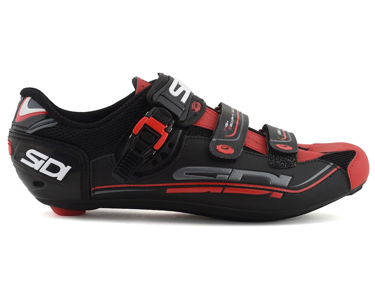 Sidi Genius 7 Carbon Road Shoes (Black/Red) (48)