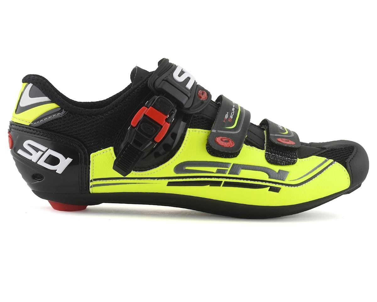 Sidi Genius 7 Road Shoes (Black/Yellow/Black) (43)