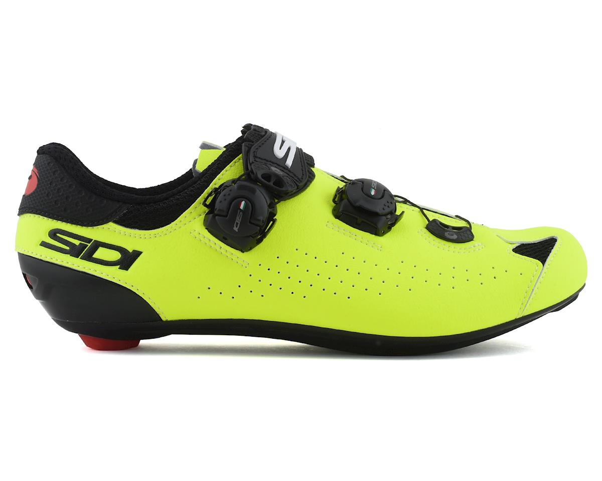 Sidi Genius 10 Road Shoes (Black/Flo Yellow) (43.5)
