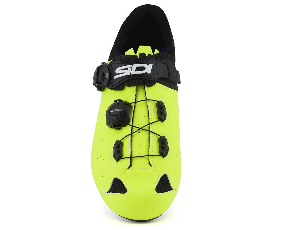 Image 3 for Sidi Genius 10 Road Shoes (Black/Flo Yellow) (48)
