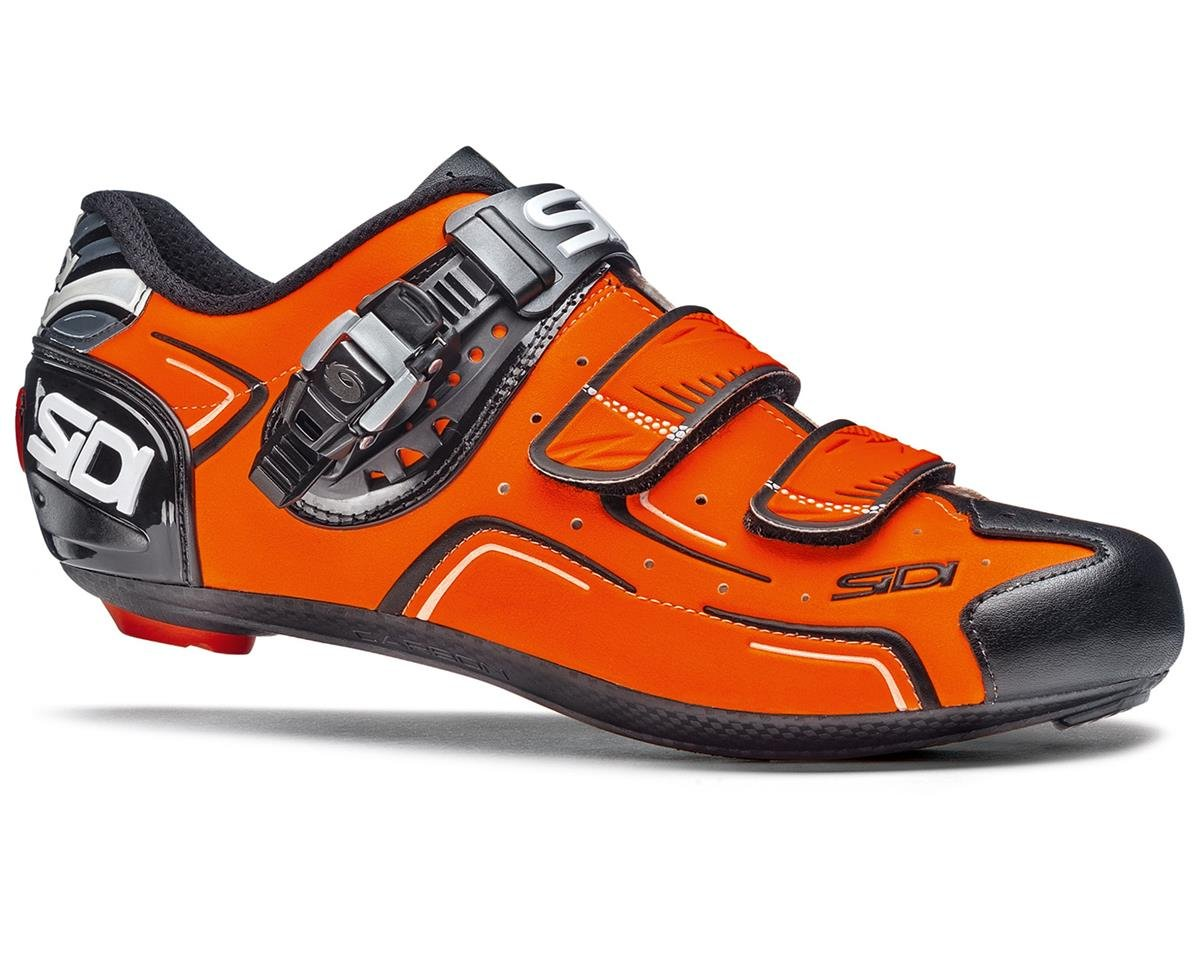 Sidi Level Carbon Road Cycling Shoes (Flourescent Orange/Black)
