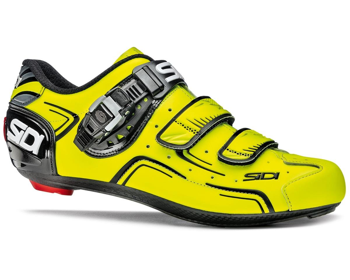 Sidi Level Road Cycling Shoes (Flourescent Yellow/Black) (43)